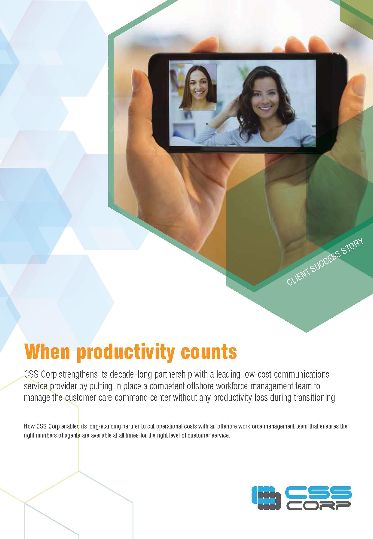 When productivity counts