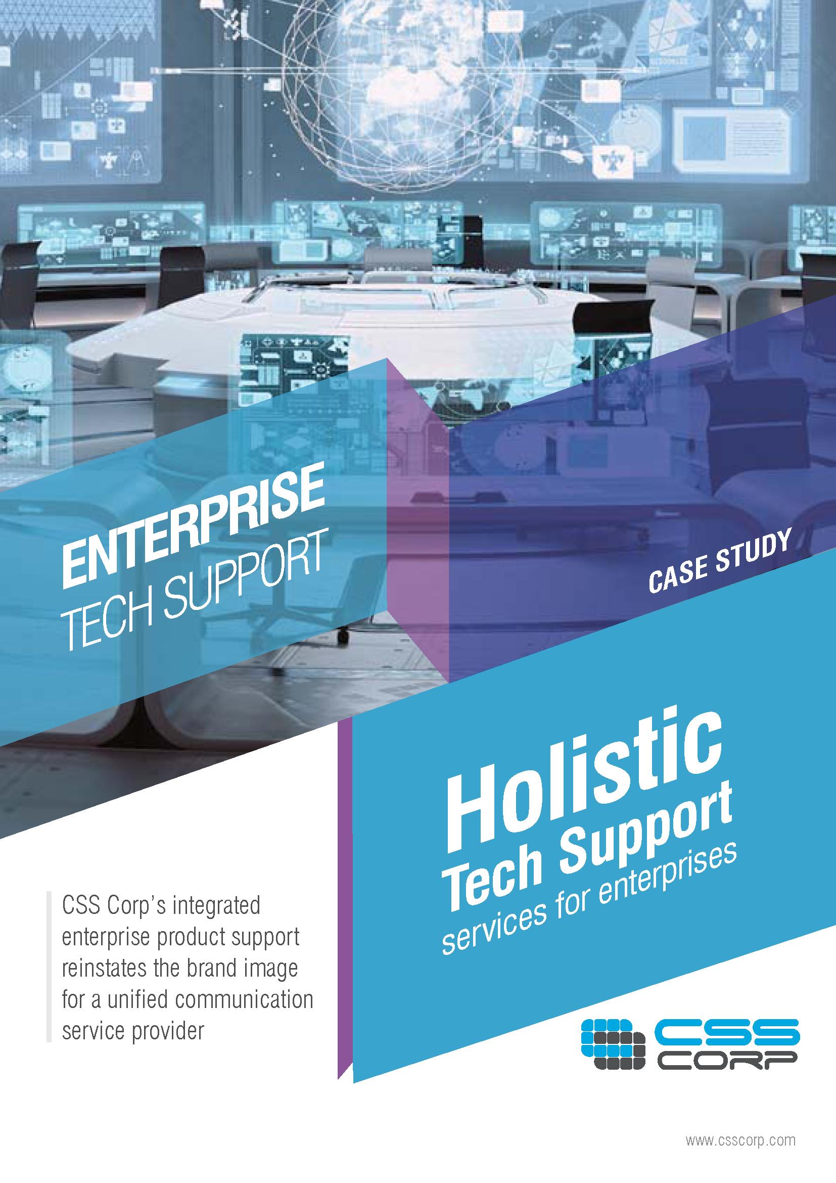 Holistic tech support services for enterprise