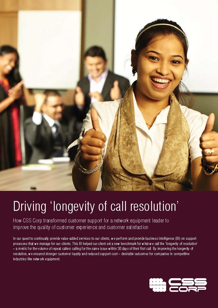 Driving 'longevity of call resolution'