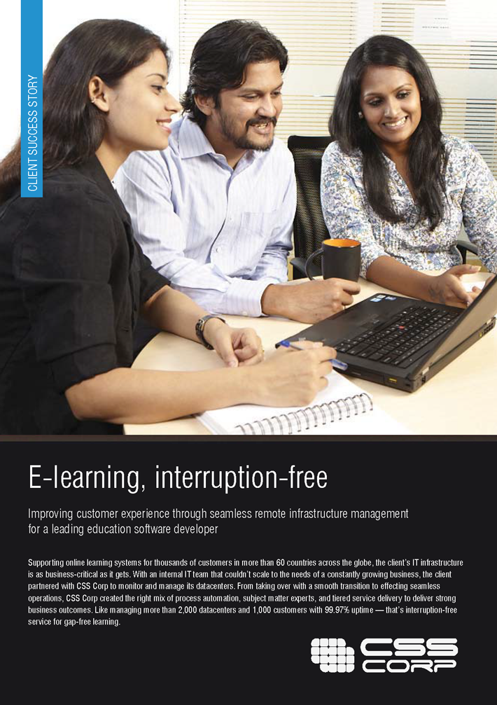 E-learning, interruption free