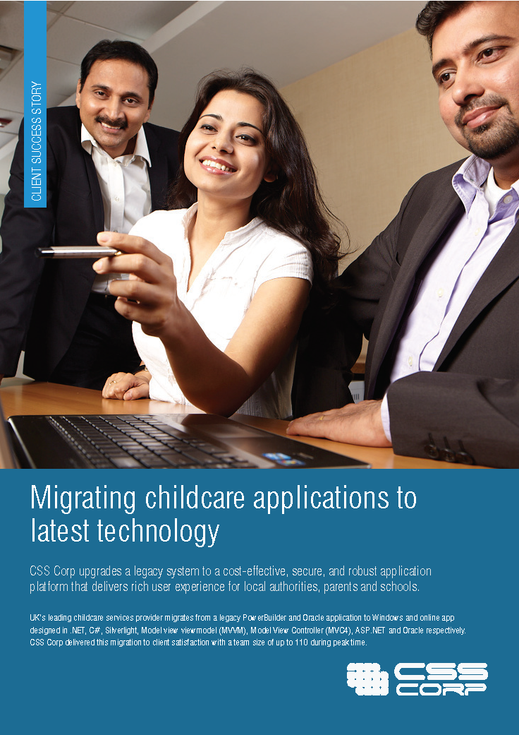 Migrating childcare applications to latest technology