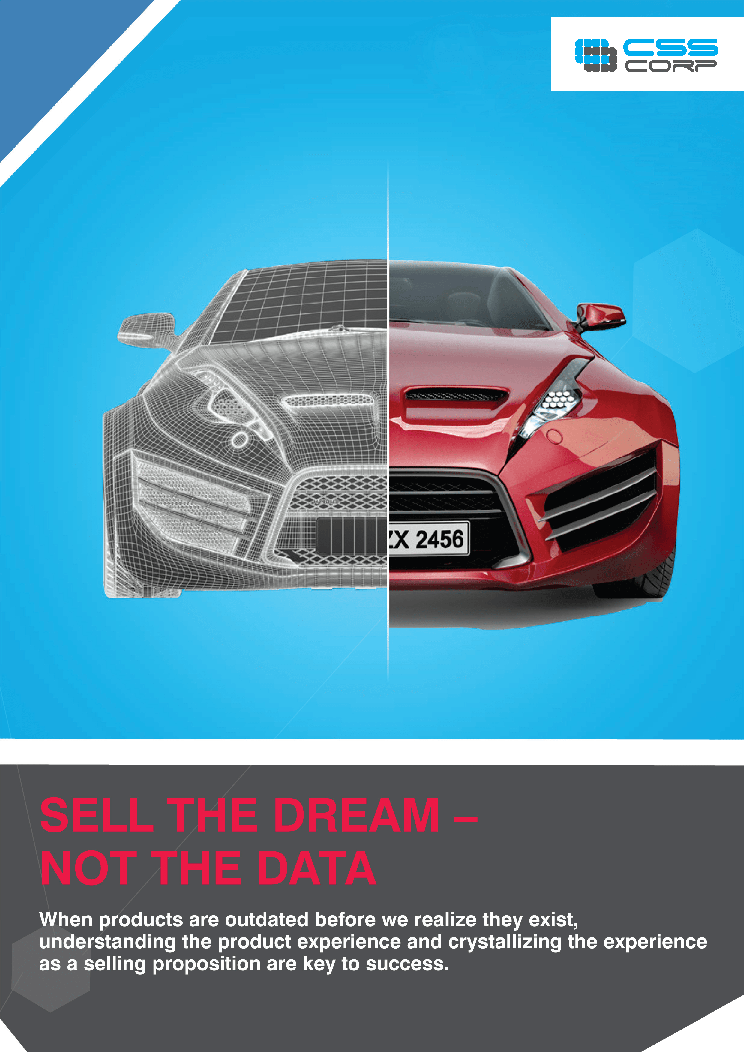 Sell the dream not the data