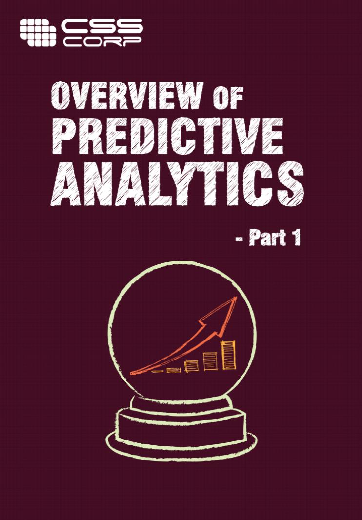 Overview of predictive analytics part 1